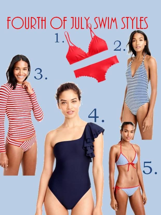 Fourth of July Swim Styles