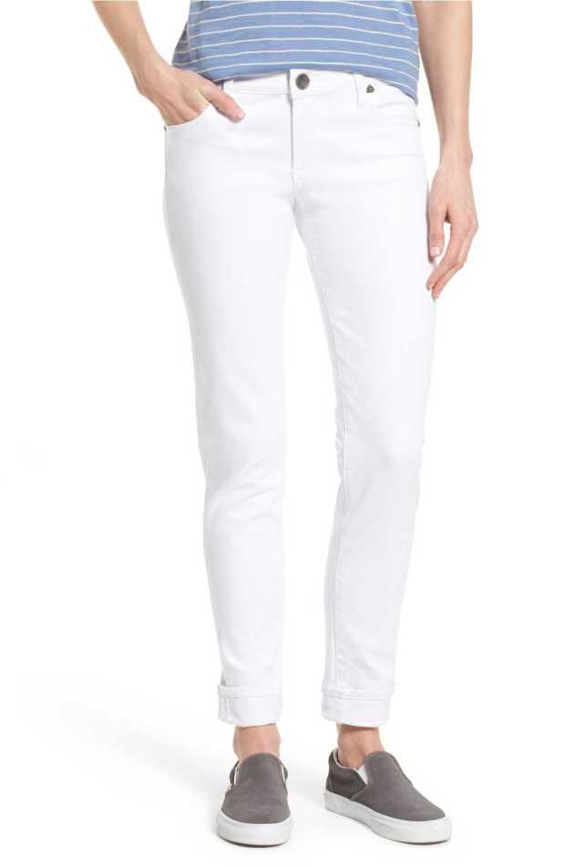white kut boyfreind jeans